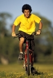 Andrew Rich riding bike