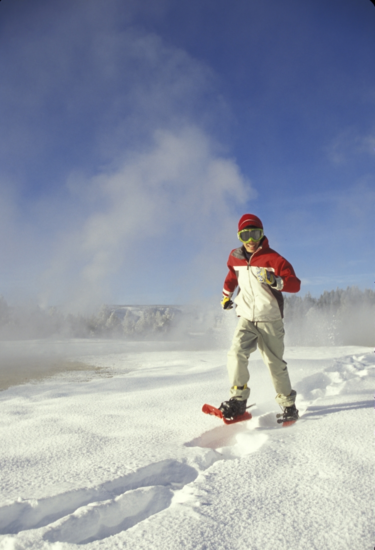Andrew Rich snowshoeing